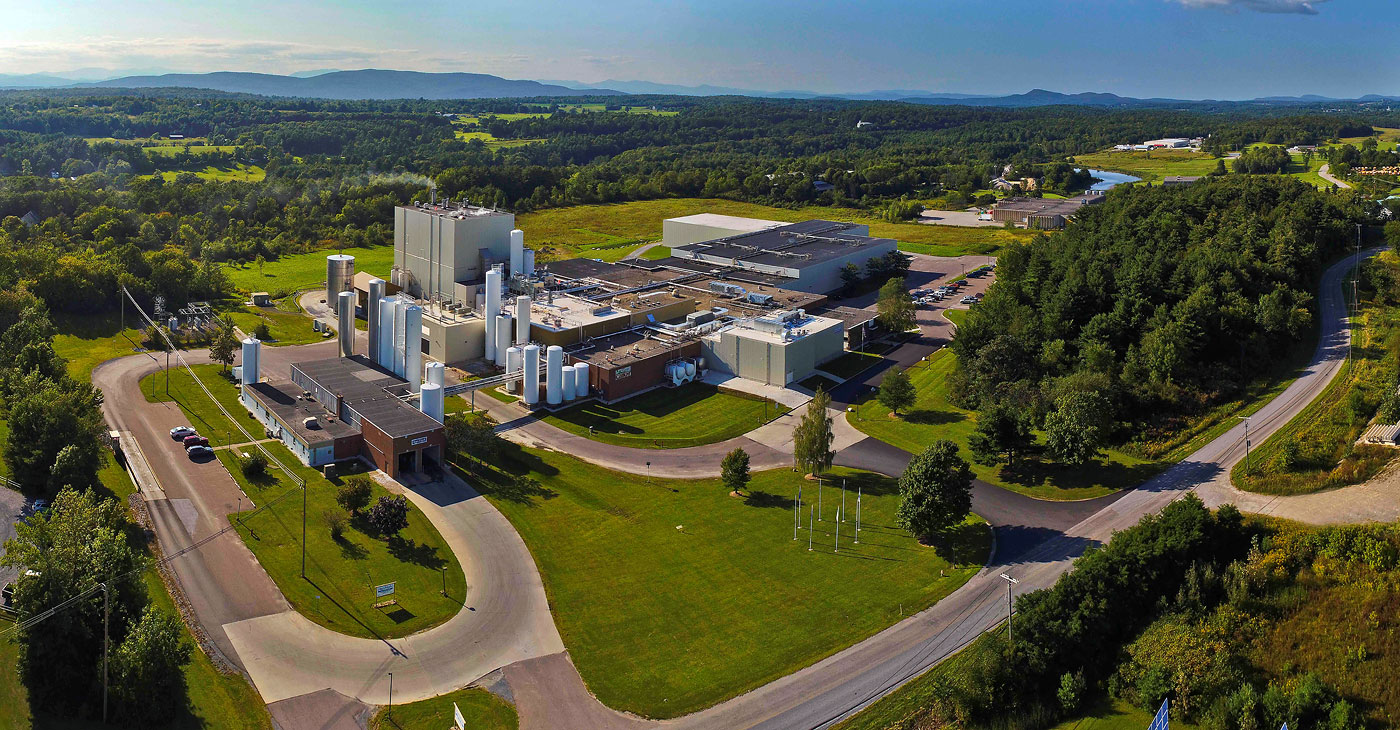 Agri-Mark Middlbury, Vermont, plant from the air